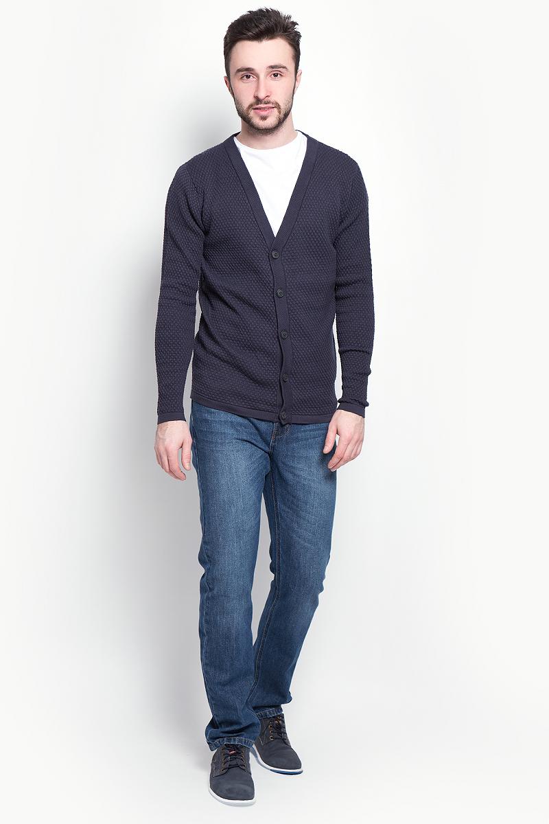 Кардиган мужской Selected Homme, цвет: темно-синий. 16052509. Размер XL (50) пуловер мужской selected homme identity цвет бордовый 16051696 размер l 48