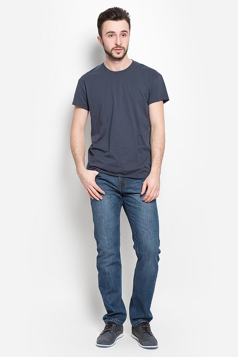 Футболка мужская Selected Homme, цвет: темно-синий. 16049961. Размер S (44)16049961_Blue NightsМужская футболка Selected Homme с короткими рукавами и круглым вырезом горловины выполнена из натурального хлопка. Низ и края рукавов изделия имеют необработанные края