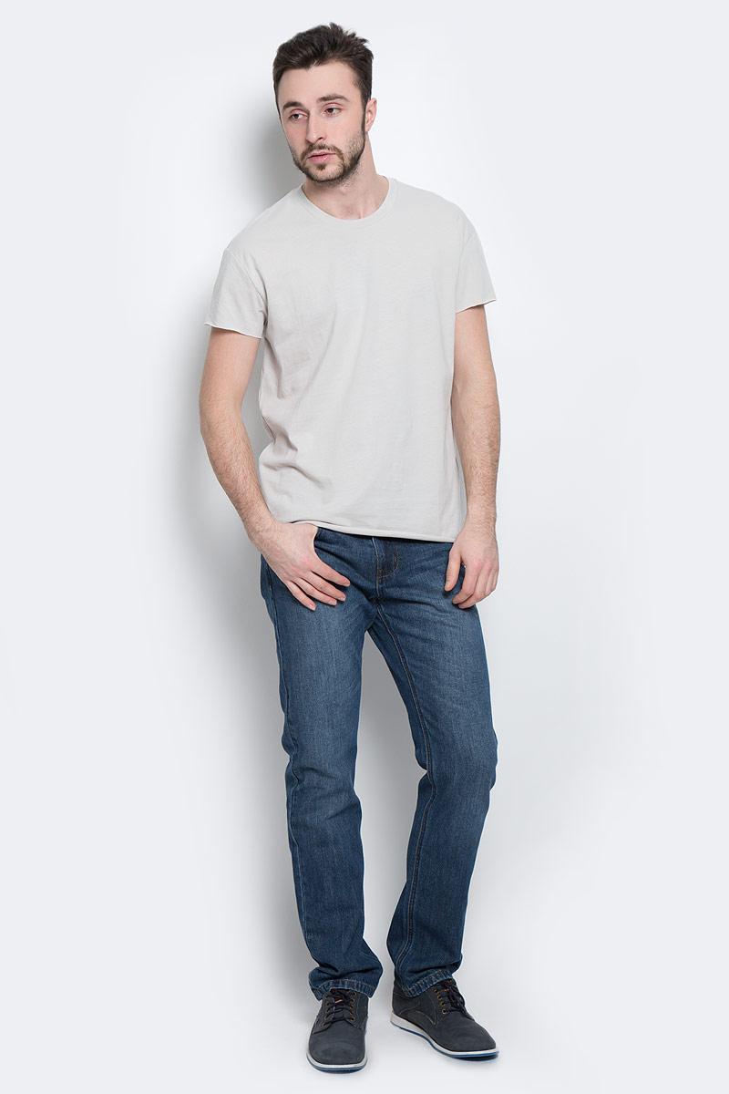 Футболка мужская Selected Homme, цвет: светло-серый. 16049961. Размер M (46) водолазка мужская selected homme identity цвет молочный 16052854 размер xl 50
