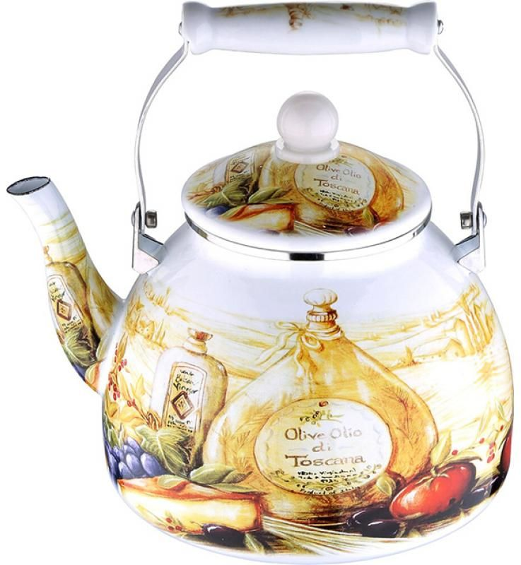 Чайник эмалированный Wellberg, 4 л. 3433 WB чайник эмалированный wellberg wb 3433