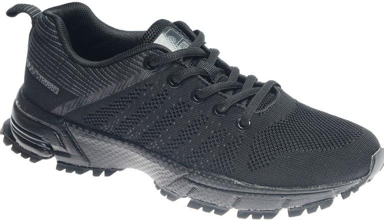 Кроссовки женские Strobbs, цвет: чeрный. F6479-3. Размер 37F6479-3Стильные женские кроссовки Strobbs отлично подойдут для активного отдыха и повседневной носки. Верх модели выполнен из текстиля по бесшовной технологии. Удобная шнуровка надежно фиксирует модель на стопе. Толстая, протекторная подошва позволяет комфортно ощущать себя на каменистой поверхности. Промежуточный слой подошвы выполнен из ЭВА-материала, что позволяет снизить вес обуви.