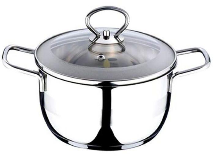 Кастрюля Wellberg, с крышкой, 1 л08039 WBКастрюля с крышкой Wellberg изготовлена из высококачественной пищевой нержавеющей стали. Внутренняя поверхность идеально ровная, что значительно облегчает мытье. Комбинированная полировка поверхности кастрюли (зеркальная и матовая) придает ей привлекательный внешний вид. Энергосберегающее капсульное алюминиевое дно быстро и равномерно распределяет тепло. Внутренние стенки кастрюли имеют отметки литража. Крышка, выполненная из термостойкого стекла, позволит вам следить за процессом приготовления пищи. Она имеет отверстие для выхода пара и металлический обод. Крышка плотно прилегает к краю кастрюли, предотвращая проливание жидкости и сохраняя аромат блюд. Подходит для использования на всех типах плит, включая индукционные. Можно использовать в духовом шкафу. Также изделие можно мыть в посудомоечной машине.