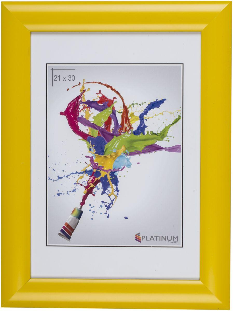 Фоторамка Platinum Аркола, цвет: желтый, 21 x 30 смPlatinum JW2-018 АРКОЛА-ЖЁЛТЫЙ 21x30Фоторамка Platinum Аркола выполнена в классическом стиле из пластика и стекла, защищающего фотографию. Оборотная сторона рамки оснащена специальной ножкой, благодаря которой ее можно поставить на стол или любое другое место в доме или офисе. Также изделие дополнено двумя специальными петлями для подвешивания на стену.Такая фоторамка поможет вам оригинально и стильно дополнить интерьер помещения, а также позволит сохранить память о дорогих вам людях и интересных событиях вашей жизни.