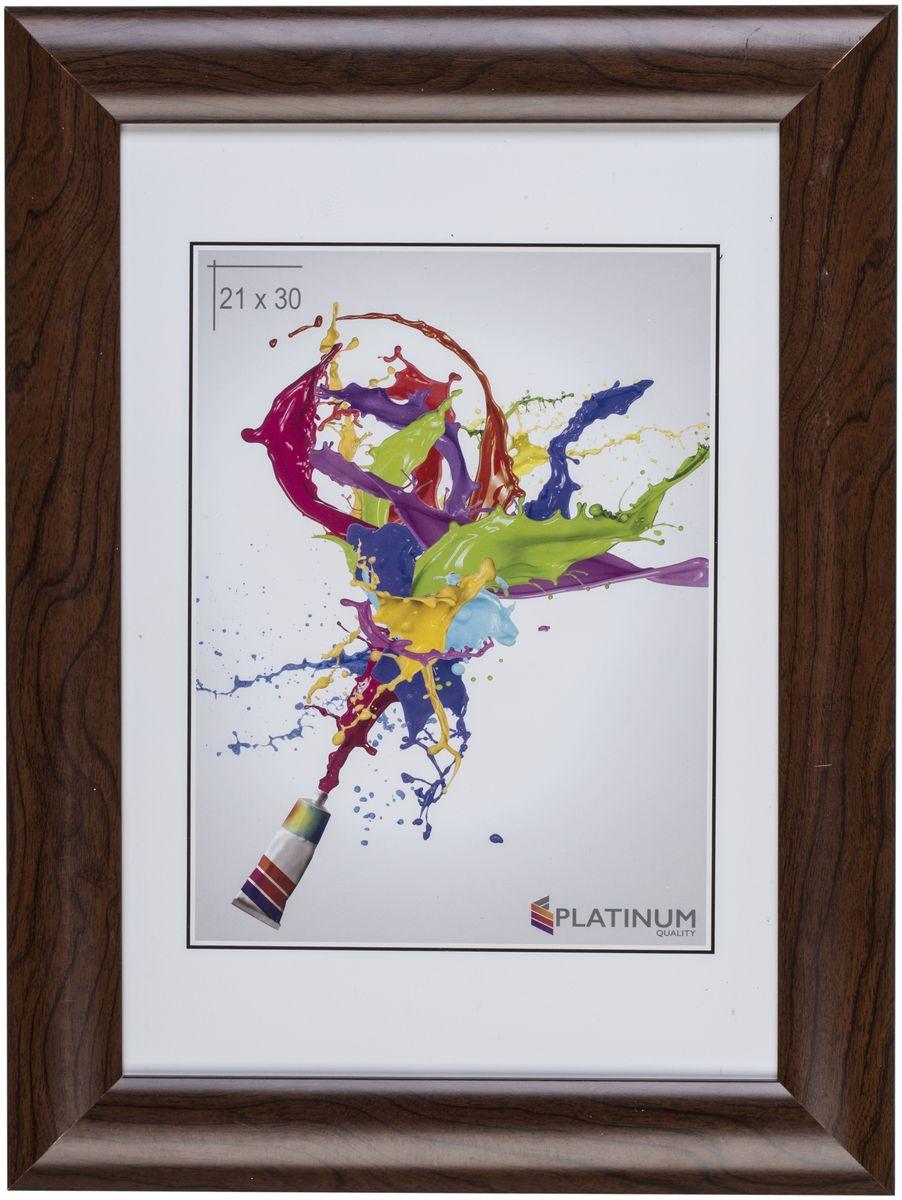 Фоторамка Platinum Аркола, цвет: коричневый, 21 x 30 смPlatinum JW2-020 АРКОЛА-КОРИЧНЕВЫЙ 21x30Фоторамка Platinum Аркола выполнена в классическом стиле из пластика и стекла, защищающего фотографию. Оборотная сторона рамки оснащена специальной ножкой, благодаря которой ее можно поставить на стол или любое другое место в доме или офисе. Также изделие дополнено двумя специальными петлями для подвешивания на стену.Такая фоторамка поможет вам оригинально и стильно дополнить интерьер помещения, а также позволит сохранить память о дорогих вам людях и интересных событиях вашей жизни.