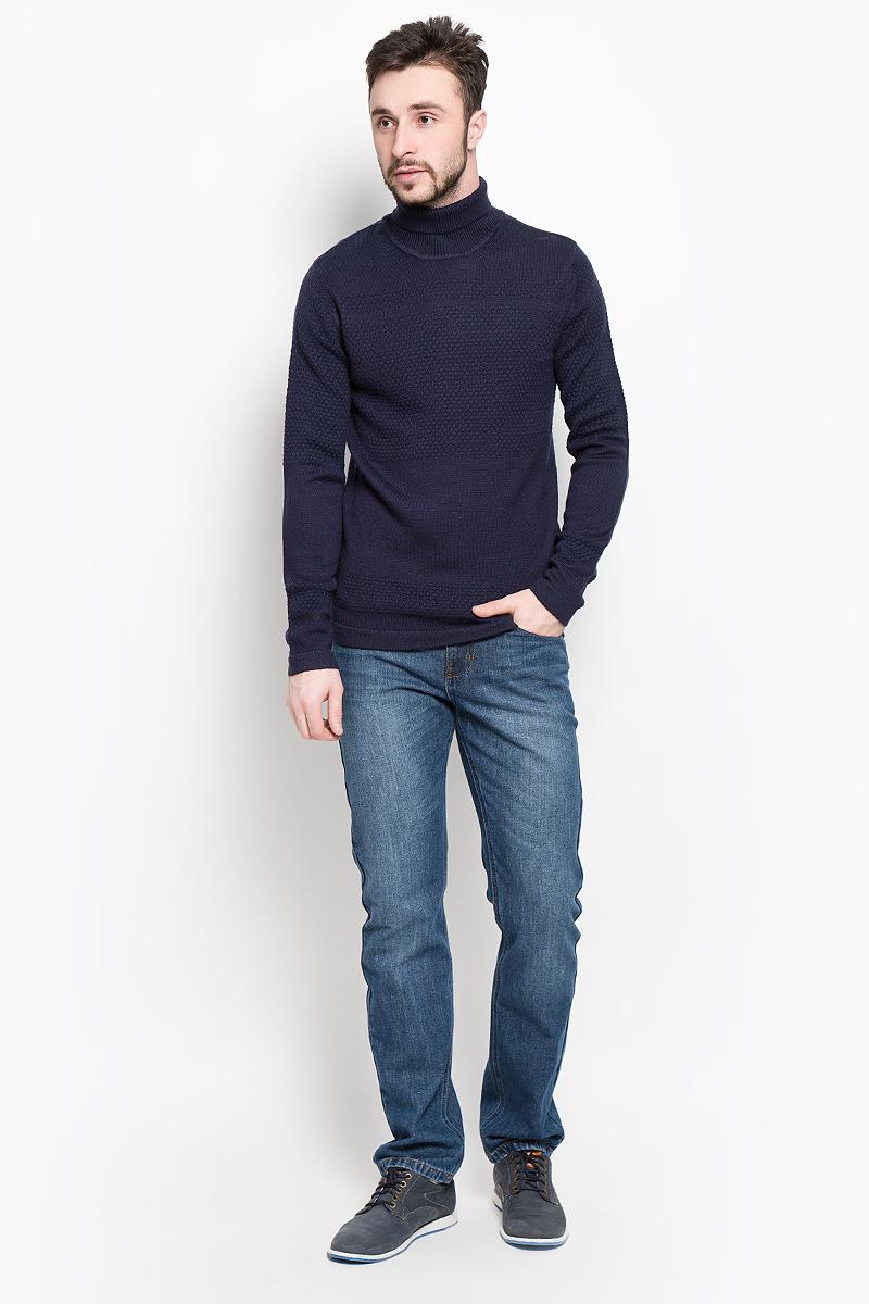 Свитер мужской Selected Homme, цвет: темно-синий. 16053475. Размер L (48) пиджак мужской selected homme цвет темно синий 16051948 разме�� 56