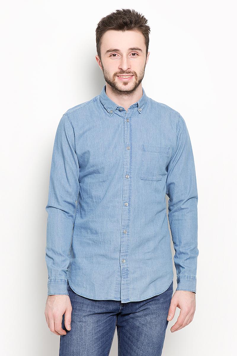 Рубашка мужская Selected Homme, цвет: синий. 16048999. Размер M (46) цена 2017