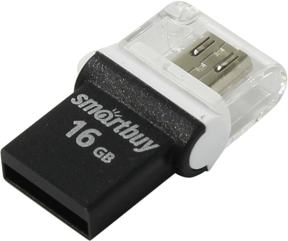 SmartBuy Poko Series 16GB, Black OTG USB-накопитель - Носители информации