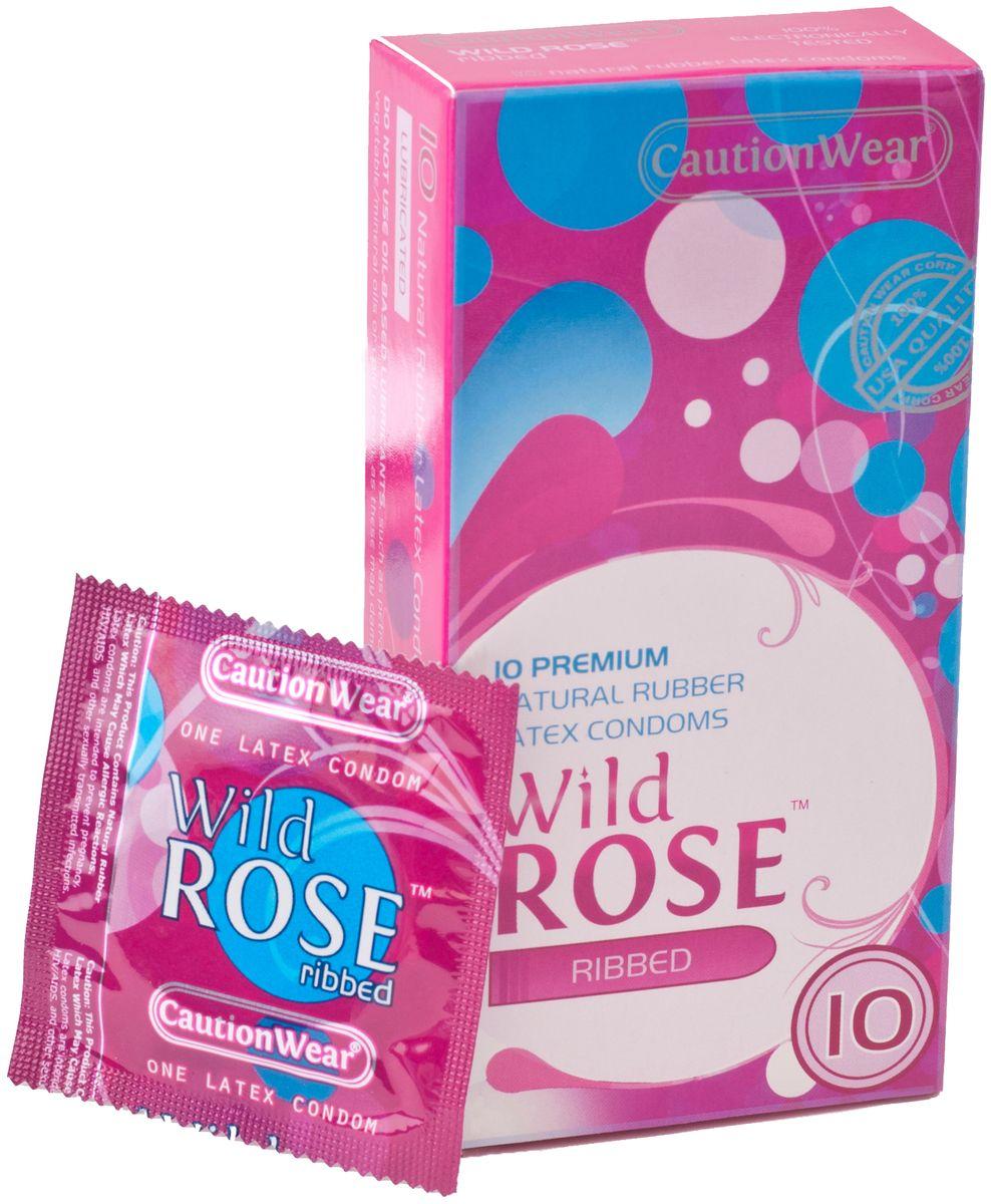 CautionWear Wild Rose Презервативы Премиум, рифленные, с натуральным лубрикатом, 10 штLB-12005Рифленные презервативы ПРЕМИУМ класса латексные с натуральным лубрикатом, натуральной расцветки,параллельносторонние, с наконечником водохранилища, 10 штук