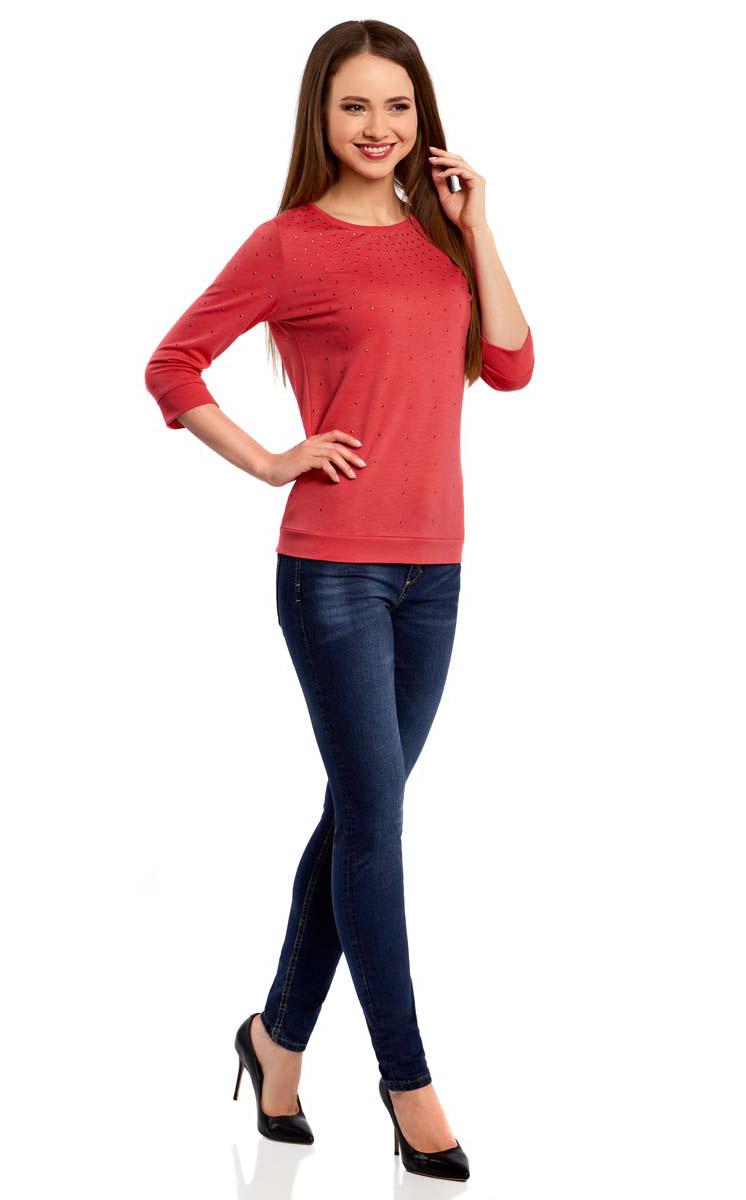 Джемпер женский oodji Ultra, цвет: ярко-розовый. 14801021-5/45493/4D00N. Размер XXS (40) oodji 14801021 3 45493 7052p