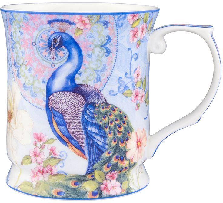 """Кружка Elan Gallery """"Павлин в райском саду"""", выполненная из керамики, станет оригинальным подарком. Изделие идеально для тех, кто предпочитает пить напитки из больших кружек. Объем: 400 мл."""