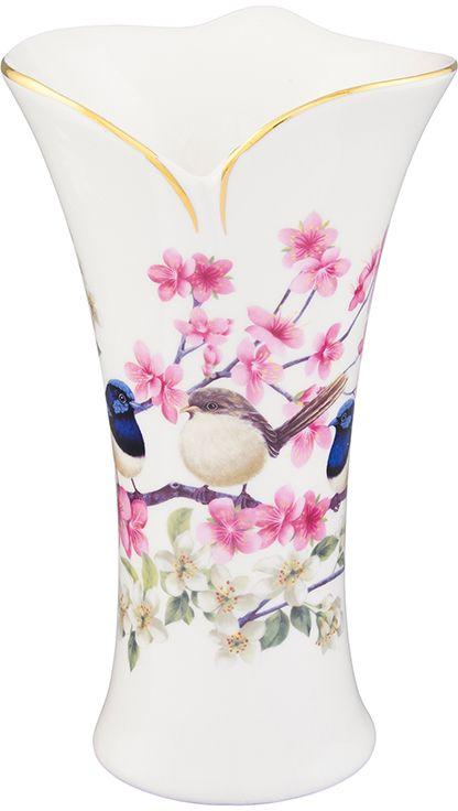 Ваза Elan Gallery Райские птички, 12 х 12 х 20 см420129Декоративная ваза Elan Gallery Райские птички станет прекрасным дополнением любого интерьера. В такой вазе любой, даже самый скромный букет будет выглядеть замечательно!Изделие выполнено из высококачественной керамики и оформлено изящным рисунком.