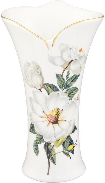 Ваза Elan Gallery Белый шиповник, с вырезом, 500 мл420130Декоративная ваза станет прекрасным дополнением любого интерьера. В такой вазе любой, даже самый скромный букет будет выглядеть замечательно!