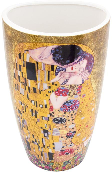 Ваза Elan Gallery Поцелуй, высота 22,5 см420131Декоративная ваза станет прекрасным дополнением любого интерьера. В такой вазе любой, даже самый скромный букет будет выглядеть замечательно!Размер вазы: 13 х 10 х 22,5 см. Объем вазы: 1,5 л.