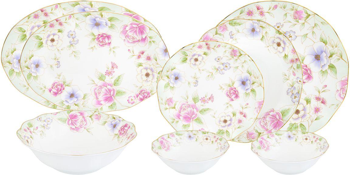Столовый сервиз Elan Gallery Карнавал цветов, 23 предмета530055Прекрасный столовый сервиз из коллекции Карнавал цветов прекрасно впишется в любой классический интерьер, поэтому его часто выбирают в качестве подарка. В наборе: 6 обеденных тарелок, 6 суповых тарелок, 6 десертных тарелок, 2 салатника 420 мл, салатник 1,4 литра, 1 блюдо овальное 30 см, блюдо овальное 26,5 см