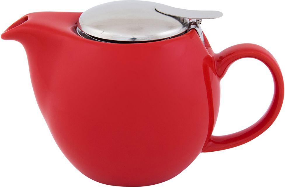 Чайник заварочный Elan Gallery, с крышкой и ситом, цвет: красный, 550 мл630003Посуда из керамики - это украшение стола и отличный подарок. Красота и уют вашего дома! Дизайн чайников проработан учитывая все подробности. Все части аккуратно скомбинированы и хорошо дополняют друг друга. Эта модель станет замечательной находкой для себя или презентом родным. Размер чайника: 17,5 х 11,5 х 10 см.Объем чайника: 550 мл.