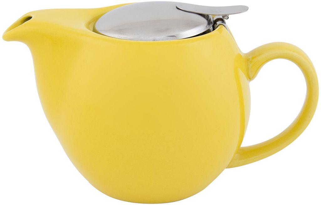 Чайник заварочный Elan Gallery, с крышкой и ситом, цвет: желтый, 550 мл630005Посуда из керамики - это украшение стола и отличный подарок. Красота и уют вашего дома! Дизайн чайников проработан учитывая все подробности. Все части аккуратно скомбинированы и хорошо дополняют друг друга. Эта модель станет замечательной находкой для себя или презентом родным. Размер чайника: 17,5 х 11,5 х 10 см.Объем чайника: 550 мл.