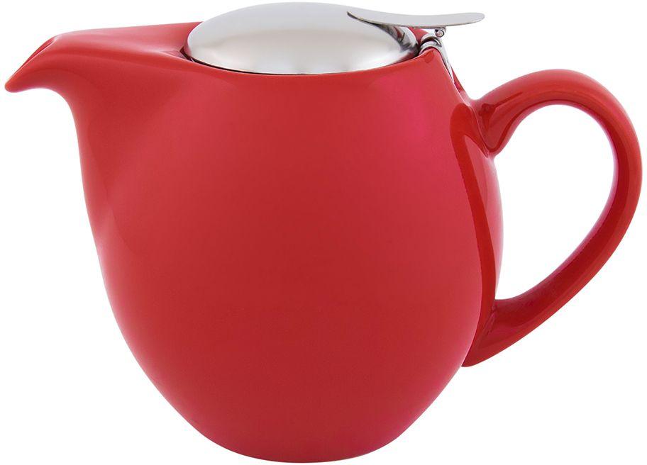Чайник Elan Gallery, с крышкой и ситом, цвет: красный, 850 мл630010Яркая керамическая посуда создаст прекрасное настроение, удобна и безопасна в использовании. Размер 18,5х11,5х13 см Объем 850 мл