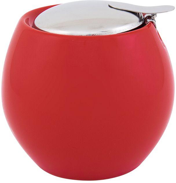 Сахарница Elan Gallery, с крышкой, цвет: красный, 500 мл630017Традиционная сахарница Elan Gallery подойдет для сахара, соли или для специй. Она выполнена из керамики. Изделие оснащено крышкой и металлическим ситом. Сахарница Elan Gallery имеет подарочную упаковку, поэтому станет желанным подарком для ваших близких! Яркая керамическая посуда создаст прекрасное настроение, удобна и безопасна в использовании.Размер: 10,5 х 10,5 х 9,5 см. Объем: 500 мл