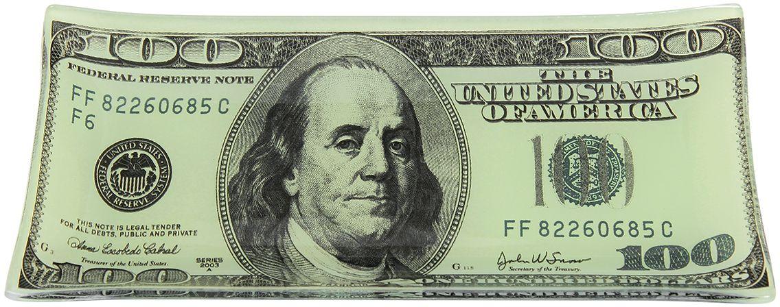 Тарелка Elan Gallery 100 долларов, с подставкой, 19 х 10 х 1,5 см890154Тарелка Elan Gallery 100 долларов изготовлена из стекла и пластика. Изделие оформлено оригинальным принтом с изображением денежной купюры.Декоративная тарелка с подставкой украсит любой интерьер и станет желанным подарком для ваших друзей и близких. В комплект входит подставка.Размеры: 19 х 10 х 1,5 см.