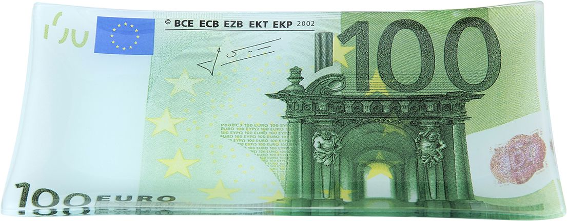 Тарелка Elan Gallery 100 евро, с подставкой, 19 х 10 х 1,5 см elan gallery