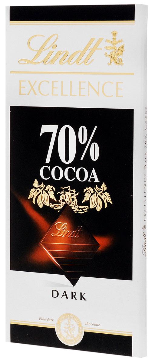 Lindt Excellence горький шоколад, 100 г lindt excellence белый шоколад с ванилью 100 г