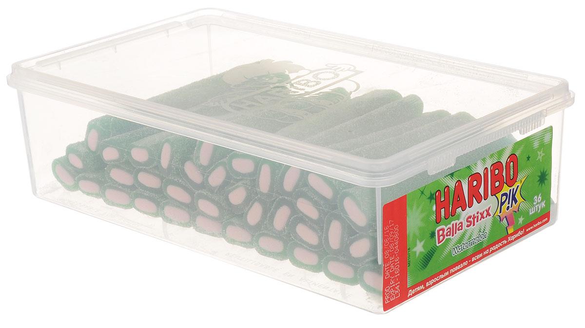 Haribo Balla Stixx Watermelon жевательные конфеты, 871,2 г35992Жевательные конфеты Haribo Balla Stixx. Watermelon - мега-трубочки - это сладкий суперхит прямиком из Испании! Почувствуйте все удивительные полутона незабываемого арбузного вкуса, рождающие настоящую страсть!Уважаемые клиенты! Обращаем ваше внимание, что полный перечень состава продукта представлен на дополнительном изображении.