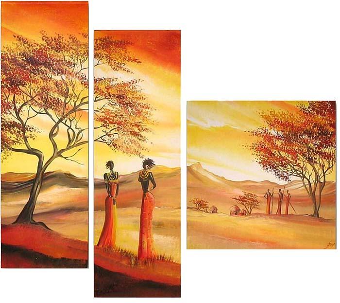 Картина Арт78 Силуэт, модульная, 130 х 90 см. арт780058-2арт780058-2Ничто так не облагораживает интерьер, как хорошая картина. Особенную атмосферу создаст крупное художественное полотно, размеры которого более метра. Подобные произведения искусства, выполненные в традиционной технике (холст, масляные краски), чрезвычайно капризны: требуют сложного ухода, регулярной реставрации, особого микроклимата – поэтому они просто не могут существовать в условиях обычной городской квартиры или загородного коттеджа, и требуют больших затрат. Данное полотно идеально приспособлено для создания изысканной обстановки именно у Вас. Это полотно создано с использованием как традиционных натуральных материалов (холст, подрамник - сосна), так и материалов нового поколения – краски, фактурный гель (придающий картине внешний вид масляной живописи, и защищающий ее от внешнего воздействия). Благодаря такой композиции, картина выглядит абсолютно естественно, и отличить ее от традиционной техники может только специалист. Но при этом изображение отлично смотрится с любого расстояния, под любым углом и при любом освещении. Картина не выцветает, хорошо переносит даже повышенный уровень влажности. При необходимости ее можно протереть сухой салфеткой из мягкой ткани.