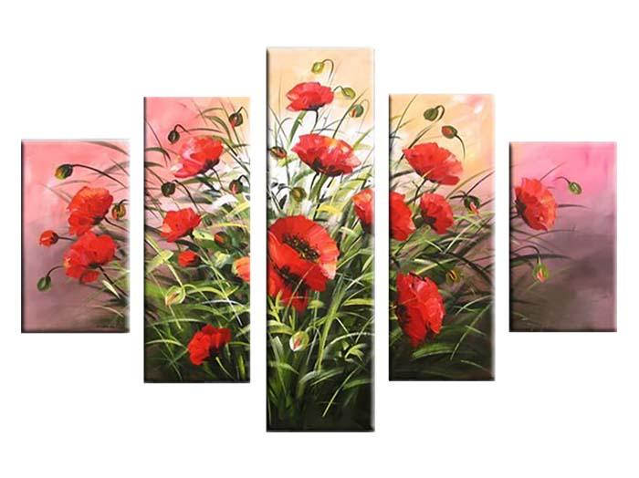 Картина Арт78 Маки, модульная, 140 х 80 см. арт780065-2арт780065-2Ничто так не облагораживает интерьер, как хорошая картина. Особенную атмосферу создаст крупное художественное полотно, размеры которого более метра. Подобные произведения искусства, выполненные в традиционной технике (холст, масляные краски), чрезвычайно капризны: требуют сложного ухода, регулярной реставрации, особого микроклимата – поэтому они просто не могут существовать в условиях обычной городской квартиры или загородного коттеджа, и требуют больших затрат. Данное полотно идеально приспособлено для создания изысканной обстановки именно у Вас. Это полотно создано с использованием как традиционных натуральных материалов (холст, подрамник - сосна), так и материалов нового поколения – краски, фактурный гель (придающий картине внешний вид масляной живописи, и защищающий ее от внешнего воздействия). Благодаря такой композиции, картина выглядит абсолютно естественно, и отличить ее от традиционной техники может только специалист. Но при этом изображение отлично смотрится с любого расстояния, под любым углом и при любом освещении. Картина не выцветает, хорошо переносит даже повышенный уровень влажности. При необходимости ее можно протереть сухой салфеткой из мягкой ткани.