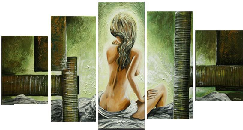 Картина Арт78 Девушка, модульная, 140 х 80 см. арт780087-2арт780087-2Ничто так не облагораживает интерьер, как хорошая картина. Особенную атмосферу создаст крупное художественное полотно, размеры которого более метра. Подобные произведения искусства, выполненные в традиционной технике (холст, масляные краски), чрезвычайно капризны: требуют сложного ухода, регулярной реставрации, особого микроклимата – поэтому они просто не могут существовать в условиях обычной городской квартиры или загородного коттеджа, и требуют больших затрат. Данное полотно идеально приспособлено для создания изысканной обстановки именно у Вас. Это полотно создано с использованием как традиционных натуральных материалов (холст, подрамник - сосна), так и материалов нового поколения – краски, фактурный гель (придающий картине внешний вид масляной живописи, и защищающий ее от внешнего воздействия). Благодаря такой композиции, картина выглядит абсолютно естественно, и отличить ее от традиционной техники может только специалист. Но при этом изображение отлично смотрится с любого расстояния, под любым углом и при любом освещении. Картина не выцветает, хорошо переносит даже повышенный уровень влажности. При необходимости ее можно протереть сухой салфеткой из мягкой ткани.