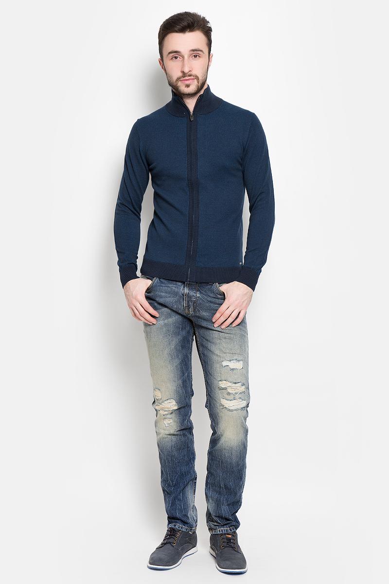 Кофта мужская Tom Tailor, цвет: темно-синий. 3021953.00.10_6012. Размер L (50) куртка мужская fresh brand цвет темно синий h3 df071 night blue размер l 50