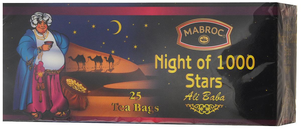 Mabroc Древние легенды. Ночь 1000 звезд чай черный в пакетиках, 25 шт mabroc ночь 1000 звезд чай листовой 85 г