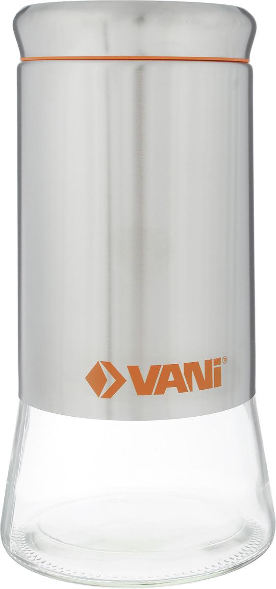 Банка для сыпучих продуктов VANI, 1,45 лV9011Банка для хранения сыпучих продуктов VANI станет незаменимым аксессуаром на любой кухне. Она предназначена для компактного хранения сыпучих продуктов, что позволяет экономить место на полке. Ее корпус изготовлен из экологически чистого стекла из высококачественной нержавеющий стали, что обеспечивает длительный срок эксплуатации изделия. Кроме того, прозрачные стенки данной модели позволяют вам контролировать остаток содержимого в банке. Для наилучшей сохранности продуктов крыша снащена пластиковым уплотнителем. Объем емкости: 1,45 л.Размер: 23 х 11 х 11 см.