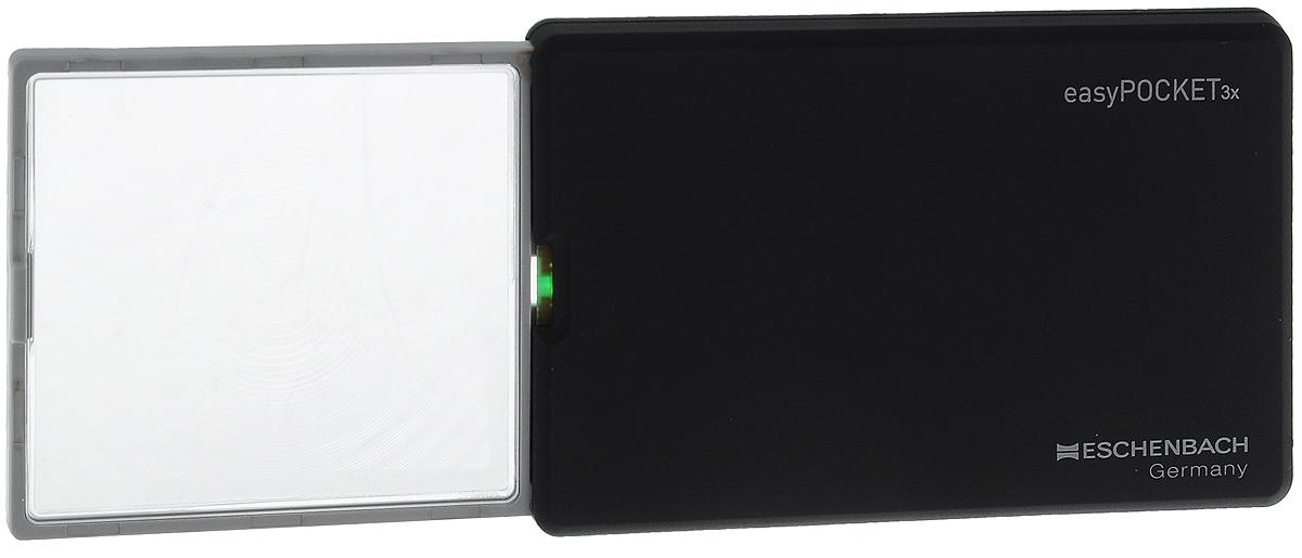 Лупа выдвижная Eschenbach EasyPOCKET, с подсветкой, цвет: черный, 3.0х 8.0 дптр, 5 х 4,5 см лупа выдвижная асферическая eschenbach easypocket 3x 50x45 мм с подсветкой черная