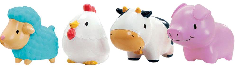 Munchkin Набор игрушек для ванной Деревенские зверюшки 4 шт munchkin игрушка для ванной змейка