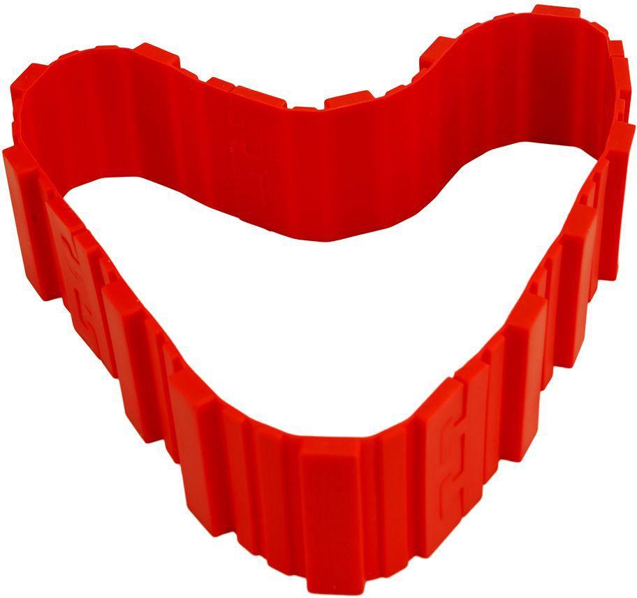 Форма-трансформер Bradex Затея, для выпечки, цвет: красныйTK 0232Хотите удивлять домашних и гостей тортами, пирогами и кексами необычной формы? С формой-трансформером Bradex Затея вы сможете без труда затмить профессионального кондитера! Силиконовая форма состоит из четырех элементов, которые легко скрепляются между собой, принимая любое очертание и размер. Пеките оригинальные торты, пироги, кексы, маффины, пирожные и пончики, легко придавая им форму цифр, букв, зверей или геометрических фигур. Форма-трансформер не требует обильного смазывания маслом. Приспособление просто мыть: остатки выпечки легко отстают от силиконовой поверхности. После использования форма разбирается на небольшие составляющие и занимает минимум места, не загромождая кухню. Приобретите славу креативного кулинара с формой-трансформером для выпечки Затея!