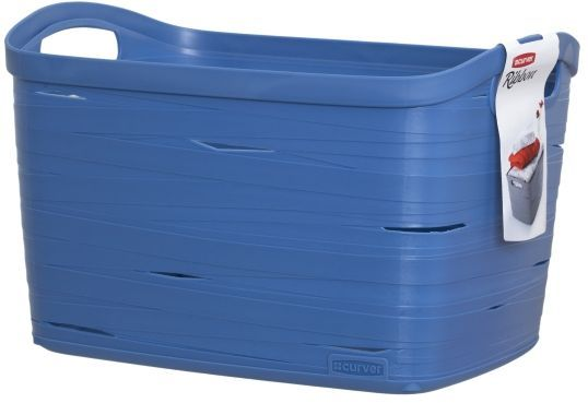 Корзина универсальная Curver Ribbon, цвет: синий, 38 x 29 x 24 см00719-X08Универсальная корзина Curver Ribbon изготовлена из высококачественного пластика. Стенки оформлены перфорацией. Корзина предназначена для хранения различных предметов в ванной, на кухне, на даче или в гараже. Позволяет хранить мелкие вещи, исключая возможность их потери. Изделие оснащено удобными ручками по бокам.
