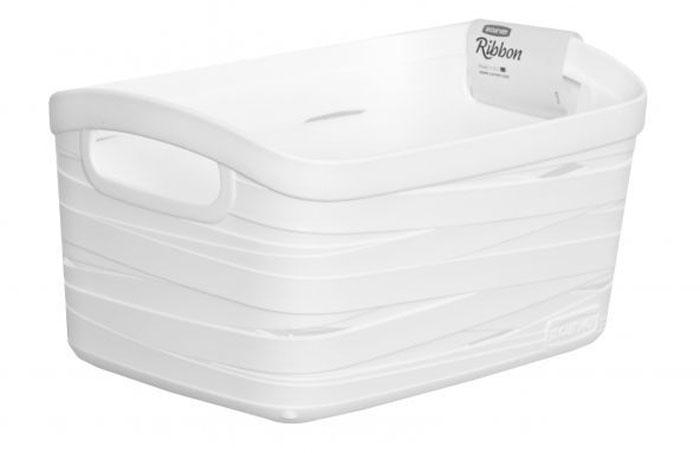 Корзина универсальная Curver Ribbon, цвет: белый, 24 x 17 x 12 см00728-X07Универсальная корзина Curver Ribbon изготовлена из высококачественного пластика. Стенки оформлены перфорацией.Корзина предназначена для хранения различных предметов в ванной, на кухне, на даче или в гараже. Позволяет хранить мелкие вещи, исключая возможность их потери. Изделие оснащено удобными ручками по бокам.