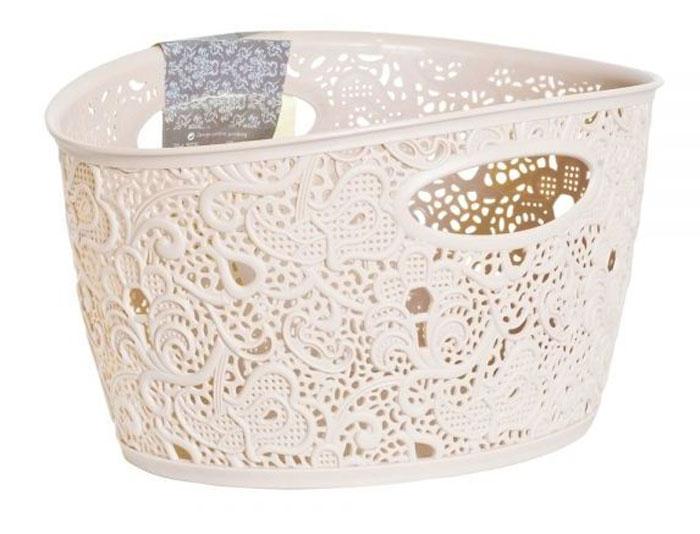 """Универсальная корзина Curver """"Victoria"""" изготовлена из высококачественного пластика и оформлена ажурной перфорацией. Идеально подходит для хранения мелочей для ванной, украшений и многих других аксессуаров для дома. Изделие оснащено удобными ручками."""