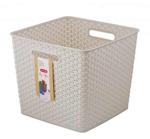 Коробка для хранения Curver My Style Square, цвет: кремовый, 25 л03613-885Коробка для хранения Curver My Style Square выполнена из высококачественного пластика. Специальные отверстия на стенках создают идеальные условия для проветривания. Изделие оснащено двумя эргономичными ручками для переноски. Контейнер очень вместителен и поможет вам хранить все необходимые мелочи в одном месте.Объем коробки: 25 л.Размер коробки: 32 x 32 x 28 см.