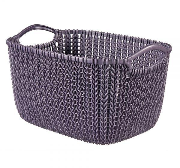 Корзина универсальная Curver Knit, цвет: фиолетовый, 19 л03670-X66-00Универсальная корзина Curver Knit изготовлена извысококачественного пластика и декоративной перфорацией под плетение. Длядополнительного удобства корзина имеет удобные ручки.Такая корзина непременно пригодится в быту, в ней можно хранить кухонные принадлежности,специи, аксессуары для ванной и другие бытовые предметы.