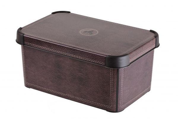 Коробка для хранения Curver Stockholm. Leather, 6 л04710-D12Коробка Curver Stockholm. Leather, выполненная из высококачественного пластика, предназначена для хранения различных вещей. Изделие оформлено принтом под кожу. Коробка оснащена крышкой. Изящный дизайн коробки впишется в любой интерьер. Декоративная коробка поможет хранить все в одном месте, а также защитить вещи от пыли, грязи и влаги.
