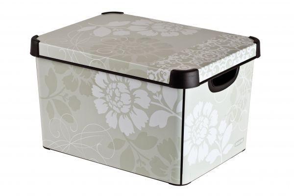 Коробка для хранения Curver Stockholm. Romance, 22 л04711-D64Коробка Curver Stockholm. Romance, выполненная из высококачественного пластика, предназначена для хранения различных вещей. Изделие оформлено цветочным принтом. Коробка оснащена крышкой и удобными ручками. Изящный дизайн коробки впишется в любой интерьер.Декоративная коробка поможет хранить все в одном месте, а также защитить вещи от пыли, грязи и влаги.
