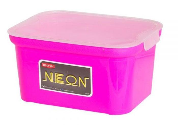 Коробка для хранения Curver Amsterdam Mini Neon, 22 х 17 х 11 см04728-818-00Стильная коробка Curver Amsterdam Mini Neon, изготовленная из высококачественного пластика, привлекательный и функциональный аксессуар. Декоративная коробка поможет хранить все в одном месте, а также защитить вещи от пыли, грязи и влаги. Изделие оснащено крышкой с застежкой click ti. Неоновые цвета оживят интерьер и придадут ему особый характер.