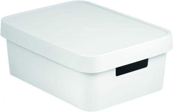 """Коробка для хранения Curver """"Infinity"""", с крышкой, цвет: белый, 11 л"""