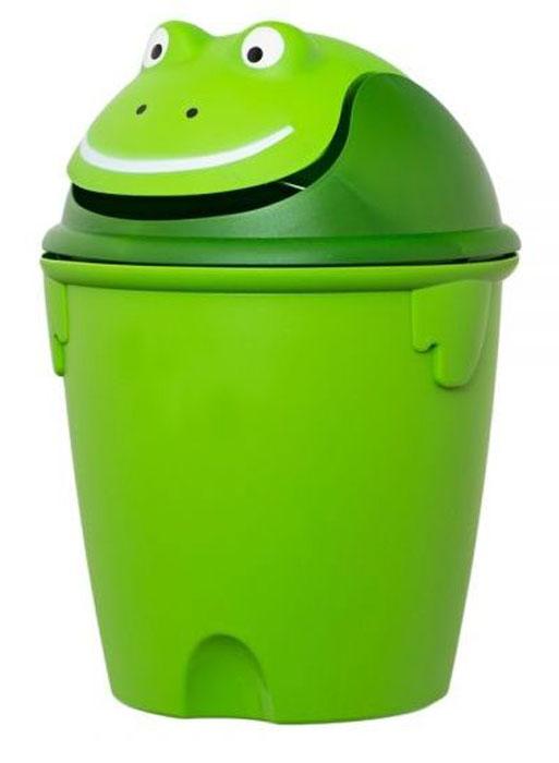 Контейнер для мусора Curver Лягушка, 26 х 26 х 37 см корзина для мусора бытпласт цвет серо бежевый высота 26 см