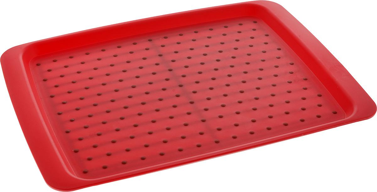 Поднос Zeller, 35 х 26 см26677Оригинальный поднос Zeller, изготовленный из прочного пищевого пластика, станет незаменимым предметом для сервировки стола. Изделие снабжено специальными прорезиненными вставками, которые предотвращают скольжение посуды. Основание подноса также имеет резиновые вставки. Для удобства переноски предусмотрены удобные ручки.Такой поднос станет полезным и практичным приобретением для вашей кухни.