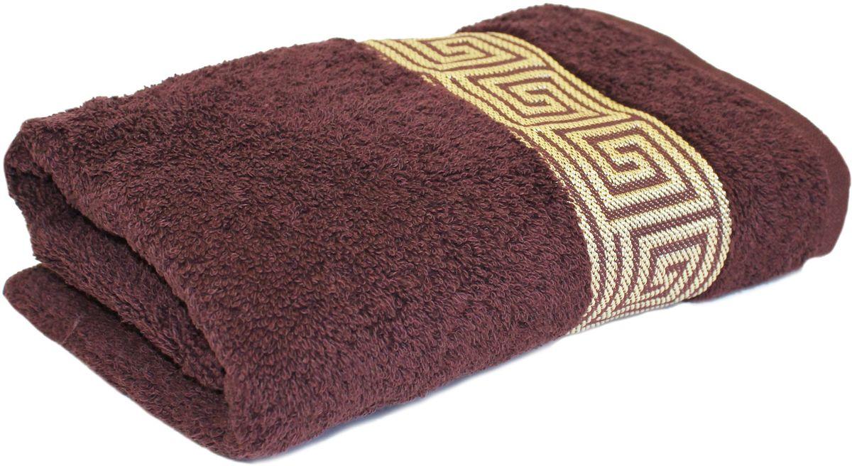 Полотенце Proffi Home Классик, цвет: шоколадный, 30 x 50 см proffi шторка для ванной proffi home жасмин 180х200см