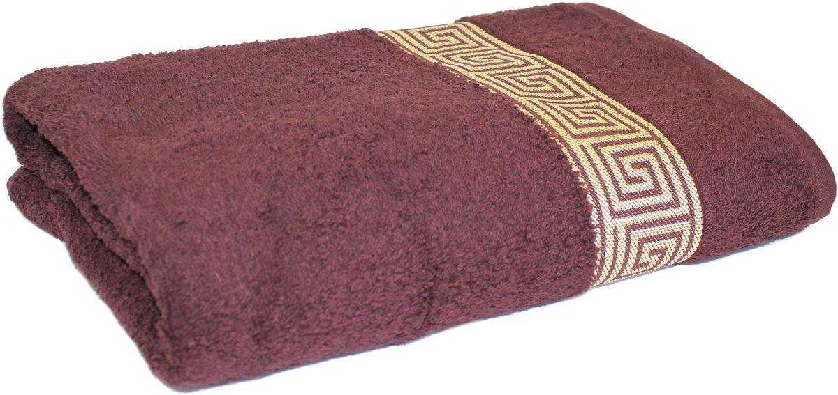 Полотенце Proffi Home Классик, цвет: шоколадный, 70 x 140 см веник березовый proffi home
