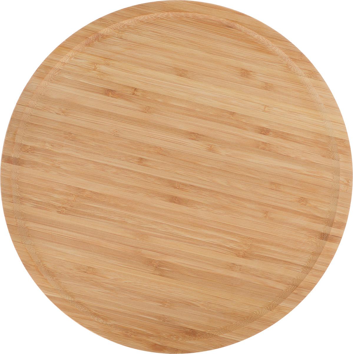Доска для пиццы Kesper, диаметр 32 см. 5846-35846-3Доска для пиццы Kesper изготовлена из каучукового твердого дерева. Бортик позволяет пицце не соскальзывать с поверхности. Удобна в употреблении.Подходит как для домашнего использования, так и для профессиональных точек общепита.Такая доска станет отличным приобретением для вашей кухни.Диаметр доски: 32 см.