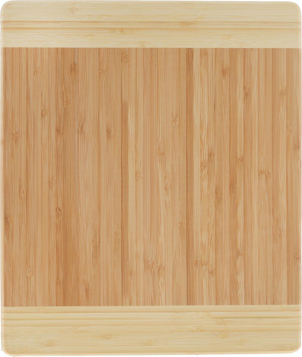 Доска разделочная Zeller, 34 х 29 х 1,6 см25258Разделочная доска Zeller выполнена из 100% натурального бамбука. Прочная, долговечная доска не боится воды и не впитывает запахи. Легко моется, бережно относится к лезвию ножа. Такая доска понравится любой хозяйке и будет отличным помощником на кухне. Не рекомендуется мыть в посудомоечной машине.